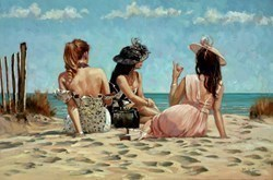 Afternoon on the Beach by Mark Spain -  sized 35x24 inches. Available from Whitewall Galleries